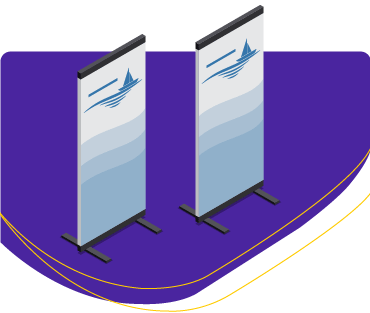 Event Rollup Stand Banners για συνέδρια και events