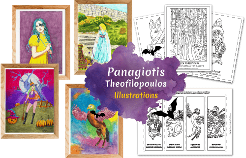 Join Panagiotis Theofilopoulos Fantasy Art Newsletter to get in your inbox all my new Artwork, Handmade Gifts, Colouring Books/Pages, and more...